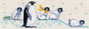 Риолис   Пингвинчики. Размер - 24 х 8 см