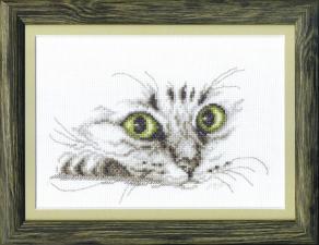 Чаривна Мить | Взгляд кота. Размер - 21 х 15 см