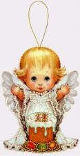 Butterfly | Игрушка из фетра Пасхальный ангелочек. Размер - 9 х 12 см