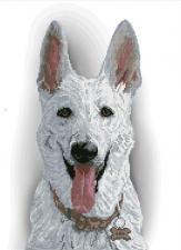 Краса и творчество   Белая овчарка. Размер - 25 х 34,1 см