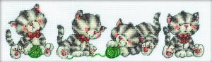 РТО   М160 Играющие котята. Размер - 33 х 10 см