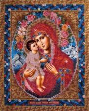 Вышивальная мозаика   Икона Божия Матерь Жировицкая. Размер - 19 х 24 см