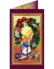 Абрис Арт   Открытка С Рождеством Христовым-1. Размер - 8,4 х 14 см