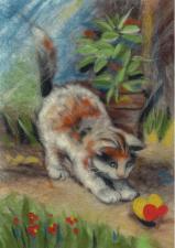 Woolla | Игривый котёнок. Размер - 21 х 30 см