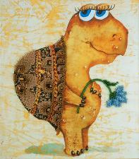 Панна | Вышивка бисером Черепашка Черри. Размер - 19 х 22 см
