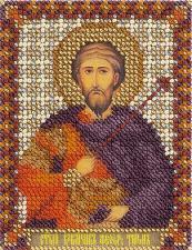 Панна | CM-1482 Икона Святой Великомученик Феодор Тирон. Размер - 8,5 х 10,5 см