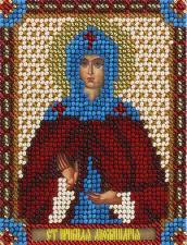 Панна | CM-1483 Икона Святая Преподобная Аполлинария. Размер - 8,5 х 10,5 см