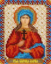 Панна | CM-1504 Икона Святая Великомученица Марина. Размер - 8,5 х 10,5 см