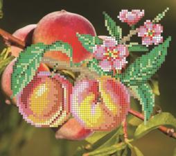 Картины бисером   Схема Персики. Размер - 18 х 16 см
