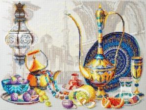 Чудесная игла | Яркие краски Марокко. Размер - 40 х 30 см