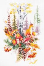 Чудесная игла | Дух осеннего леса. Размер - 17 х 27 см