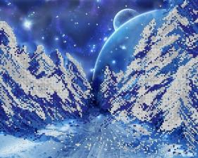 А-строчка   АК3-077 Зимняя сказка. Размер - 32 х 26 см