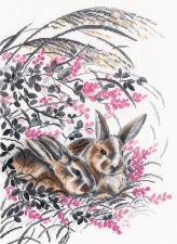 Овен | Кролики. Размер - 26 х 35 см