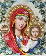 Икона Божией Матери Казанская. Размер - 19 х 24 см.