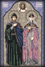 Икона Святые Петр и Феврония. Размер - 20 х 28 см.