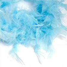 Боа (перо). Цвет-голубой