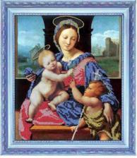 Мадонна с младенцами. Размер - 27 х 31 см.