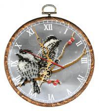 """Часы """"Воробьи"""". Размер - диаметр 18 см."""