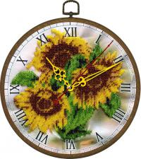 """Часы """"Жёлтое настроение"""". Размер - диаметр 18 см."""