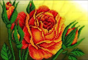 Королева цветов. Размер - 27 х 19 см.