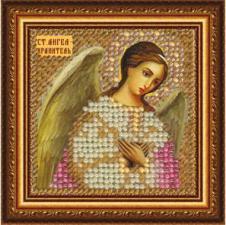 Икона Св.Ангел-Хранитель(с акрил.рамкой). Размер - 6,5 х 6,5 см.