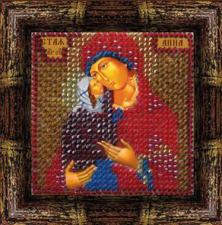 Икона Св.Анна (Богопраматерь)(с акрил. рамкой). Размер - 6,5 х 6,5 см.