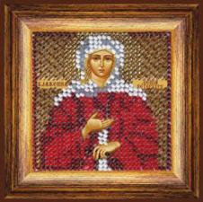 Икона Св.Бл. Ксения Петербургская(с акр.рамкой). Размер - 6,5 х 6,5 см.