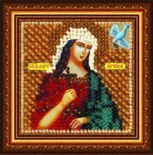 Икона Св.Вмуч.Ирина(с акрил. рамкой). Размер - 6,5 х 6,5 см.
