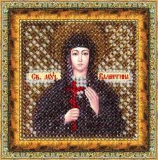 Икона Св.муч.Валентина(с акрил. рамкой). Размер - 6,5 х 6,5 см.