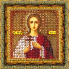Икона Св.муч.Вера(с акрил. рамкой). Размер - 6,5 х 6,5 см.