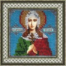 Икона Св.Муч.Иулия (Юлия) Карфагенская(с акр. рамкой). Размер - 6,5х 6,5 см.