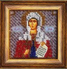 Икона Св.Прпд.Зоя Вифлеемская (с акрил.рамкой).  Размер - 6,5 х 6,5 см.