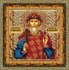 Икона Св.Равноап.Вл.Кн.Владимир (с акрил.рамкой). Размер - 6,5 х 6,5 см.