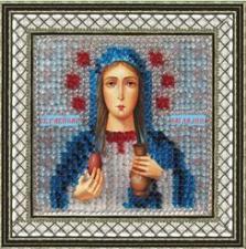 Икона Св.Равноап.Мария Магдалина (с акрил.рамкой).  Размер - 6,5 х 6,5 см.