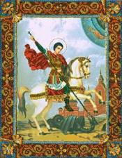 Святой Великомученик Георгий Победоносец. Размер - 26 х 32 см.