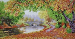 Осени краски. Размер - 44 х 23 см.