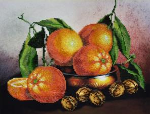 Натюрморт с апельсинами. Размер - 34 х 26,5 см.