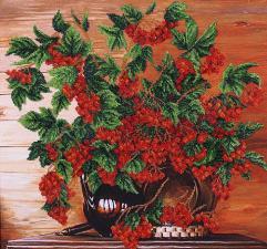 Калина красная. Размер - 42 х 40 см.