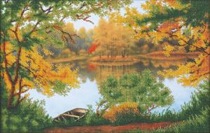 Осенняя прогулка. Размер - 45,5 х 28,5 см.