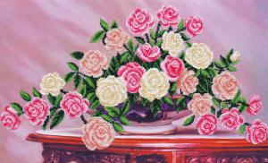 Садовые розы. Размер - 50 х 30 см.