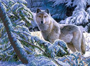 В зимнем лесу. Размер - 35 х 26 см.