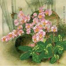 Орхидеи. Размер - 26 х 26 см.