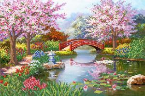 Японский сад. Размер - 37 х 25 см.