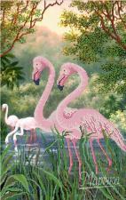 Фламинго. Размер - 31 х 49 см.
