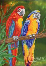 Яркие птицы. Размер - 31 х 44 см.