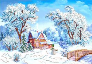 Зимушка-зима. Размер - 37 х 26 см.