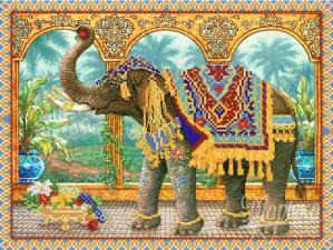 Индийский слон. Размер - 35 х 26 см.