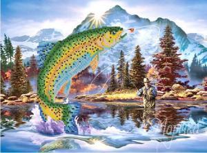 Удачная рыбалка. Размер - 35 х 26 см.