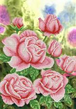 Садовые розы. Размер - 26 х 37 см.