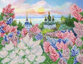Весенний Киев. Размер - 34 х 26 см.